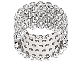 Cubic Zirconia Rhodium Over Steling Silver Ring 9.00ctw