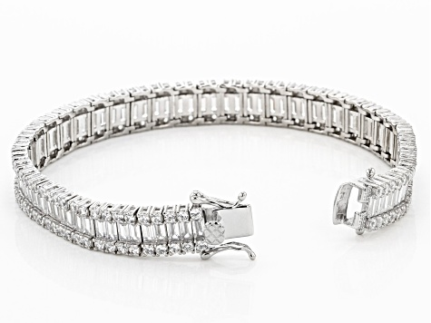 Cubic Zirconia Rhodium Over Sterling Silver Bracelet 29.49ctw