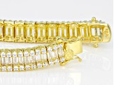 White Cubic Zirconia 18k Yellow Gold Over Sterling Silver Bracelet 29.49ctw