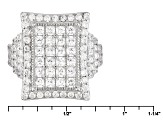 White Cubic Zirconia Rhodium Over Silver Ring 4.13ctw