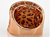 Brown And Mocha Cubic Zirconia 18k Rose Gold Over Silver Ring 4.28ctw