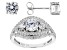 White Cubic Zirconia Rhodium Over Silver Ring And Earrings 2.42ctw