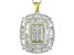 White Cubic Zirconia 18k Yellow Gold And Rhodium Over Sterling Silver Pendant With Chain 3.92ctw