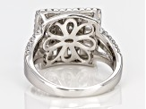 White Cubic Zirconia Rhodium Over Sterling Silver Ring 2.55ctw