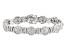 White Cubic Zirconia Rhodium Over Silver Bracelet 14.44ctw