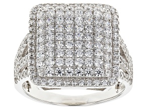 White Cubic Zirconia Rhodium Over Silver Ring 2.28ctw