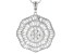 White Cubic Zirconia Rhodium Over Silver Pendant With Chain 7.81ctw