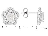 White Cubic Zirconia Rhodium Over Silver Earrings 3.75ctw
