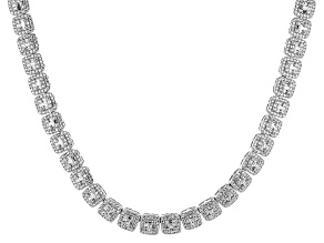 White Cubic Zirconia Rhodium Over Silver Necklace 20.55ctw