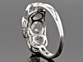 White Cubic Zirconia Rhodium Over Sterling Silver Ring 2.58ctw