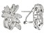 White Cubic Zirconia Rhodium Over Sterling Silver Earrings 4.44ctw