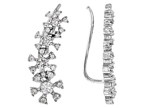 White Cubic Zirconia Rhodium Over Sterling Silver Earrings 1.64ctw