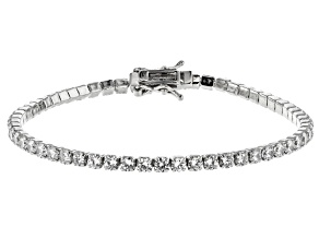 White Cubic Zirconia Rhodium Over Silver Bracelet 9.58ctw