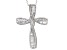 White Cubic Zirconia Rhodium Over Silver Cross Pendant With Chain 2.34ctw