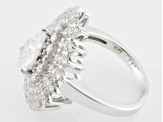 White Cubic Zirconia Rhodium Over Sterling Silver Ring 4.14ctw