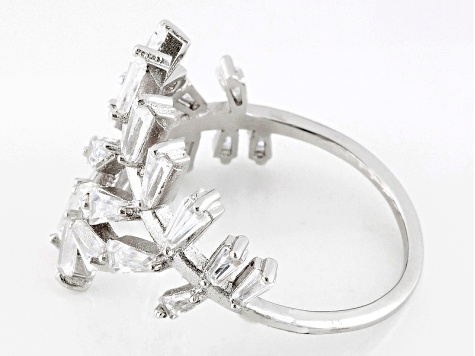 White Cubic Zirconia Rhodium Over Sterling Silver Ring 2.40ctw