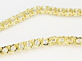 Cubic Zirconia 18k Yellow Gold Over Sterling Silver Necklace 39.99ctw