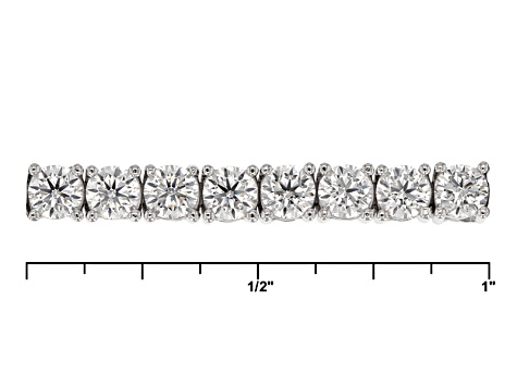 White Cubic Zirconia Rhodium Over Sterling Silver Bracelet And Earrings 14.08ctw