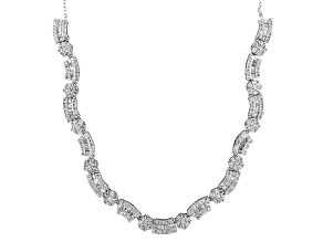 White Cubic Zirconia Rhodium Over Sterling Silver Necklace 7.79ctw