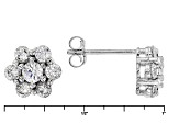 White Cubic Zirconia Rhodium Over Sterling Silver Ring And Earrings 6.20ctw