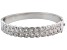 Diamond Rhodium Over Brass Interwoven Circles Bangle Bracelet .25ctw