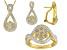 Diamond 14k Yellow Gold Over Brass Set Of 3 .10ctw