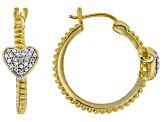 Diamond 14k Yellow Gold Over Brass Earrings Diamond Accent