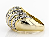 Diamond 14k Yellow Gold Over Brass Ring Diamond Accent