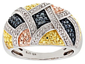 Diamond Rhodium Over Brass Ring Diamond Accent