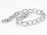 Diamond Rhodium Over Brass Bracelet .48ctw