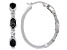 Emulous™ 0.25ctw Round Black Diamond Rhodium Over Brass Hoop Earrings