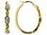 Emulous™ 0.25ctw Round White Diamond 14K Yellow Gold Over Brass Hoop Earrings