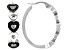 Emulous™ 0.25ctw Round Black Diamond Rhodium Over Brass Heart Hoop Earrings