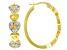 Emulous™ 0.25ctw Round White Diamond 14K Yellow Gold Over Brass Heart Hoop Earrings