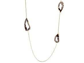 Agate 18k Yellow Gold Over Brass Necklace
