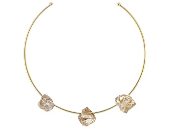 Picture of Smoky Quartz 18k Yellow Gold Over Brass Collar
