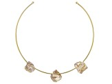 Smoky Quartz 18k Yellow Gold Over Brass Collar