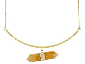 Free-Form Citrine 18K Yellow Gold Over Brass Collar