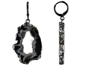 Agate Slice Titanium Earrings