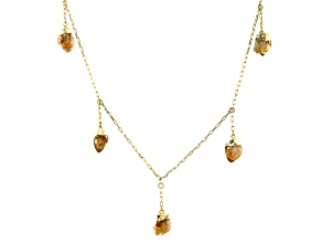 """Artisan Collection of Brazil™ Citrine 18K Yellow Gold Over Brass 24"""" Necklace"""