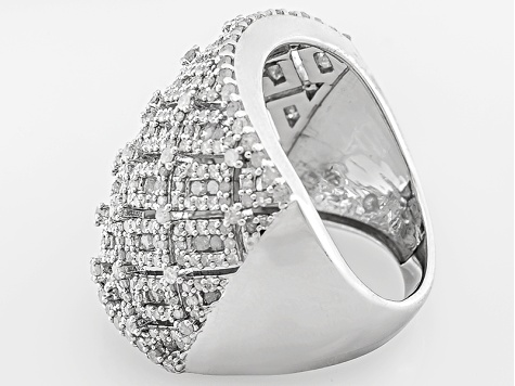 Diamond Sterling Silver Ring, 2.15ctw
