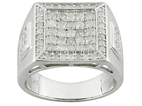 Diamond Sterling Silver Gents Ring 1 33ctw