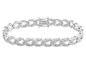 Diamond Sterling Silver Bracelet .45ctw