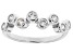 White Cubic Zirconia Rhodium Over Sterling Silver Ring 1.00ctw