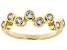 White Cubic Zirconia 18K Yellow Gold Over Sterling Silver Ring 1.00ctw