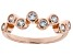 White Cubic Zirconia 18K Rose Gold Over Sterling Silver Ring 1.00ctw