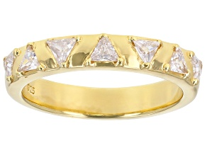 White Cubic Zirconia 18K Yellow Gold Over Sterling Silver Band Ring 0.85ctw