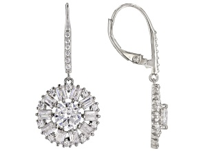 White Cubic Zirconia Rhodium Over Sterling Silver Earrings 5.25ctw