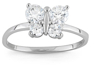 Childrens  Sterling Silver Cubic Zirconia Butterfly Ring