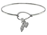 Bella Luce ® .54ctw Diamond Simulant Rhodium Over Silver inspirational Bangle